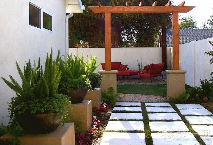 国外庭院花园休闲区装修